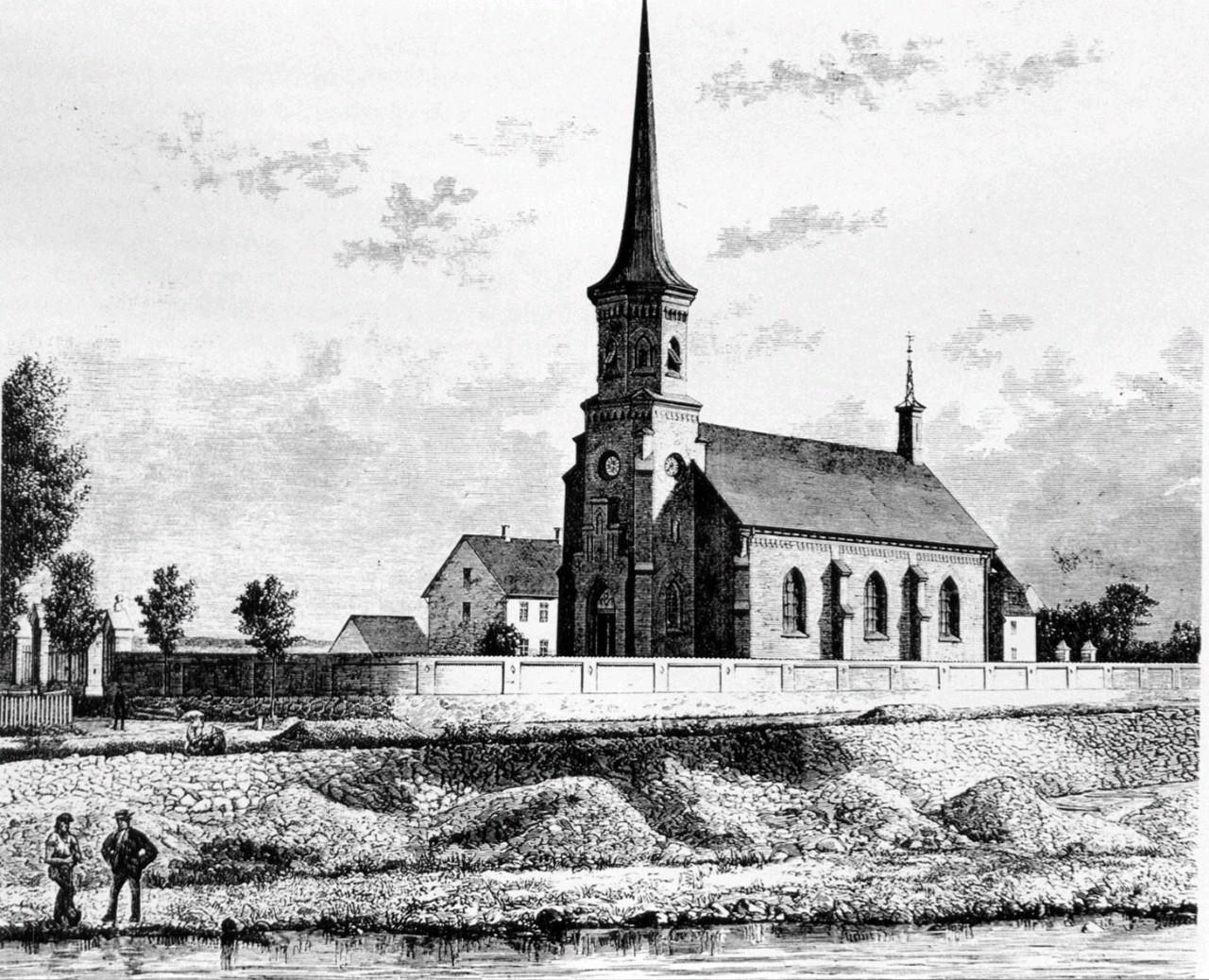 Hylleholt Kirke i Faxe Ladeplads | Historisk Atlas